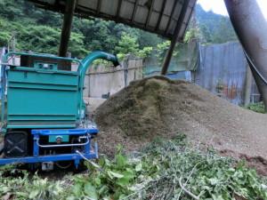 枝ごみから堆肥へ